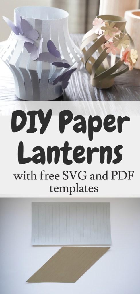 DIY paper lantern decor
