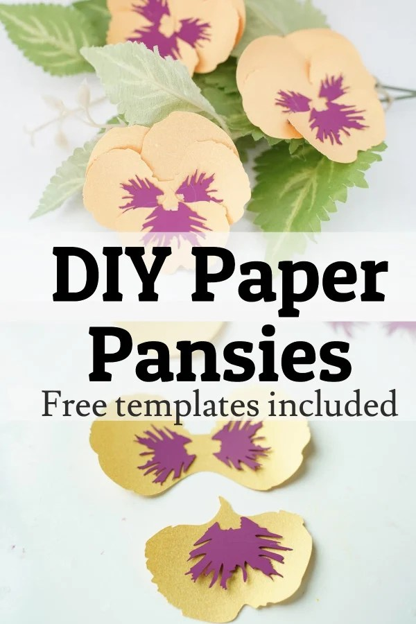 Paper pansy template