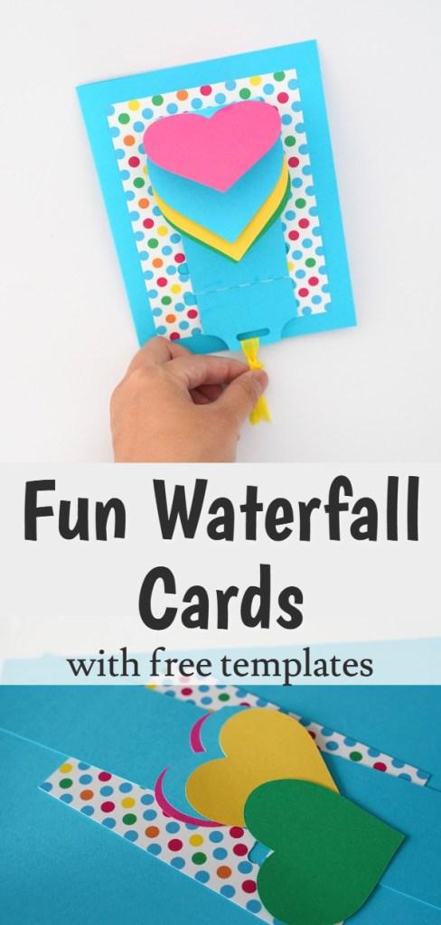waterfall cards diy