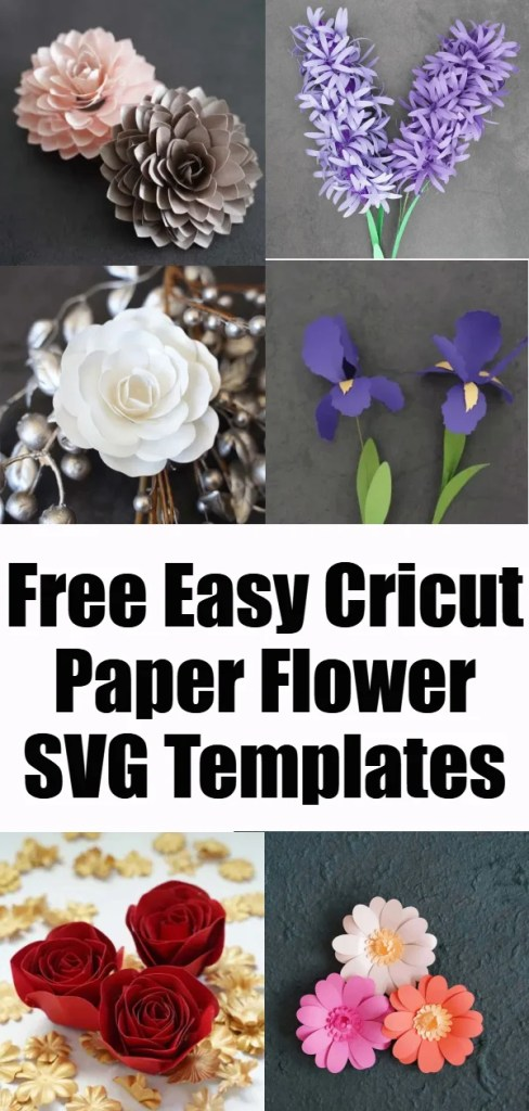Easy paper flower templates