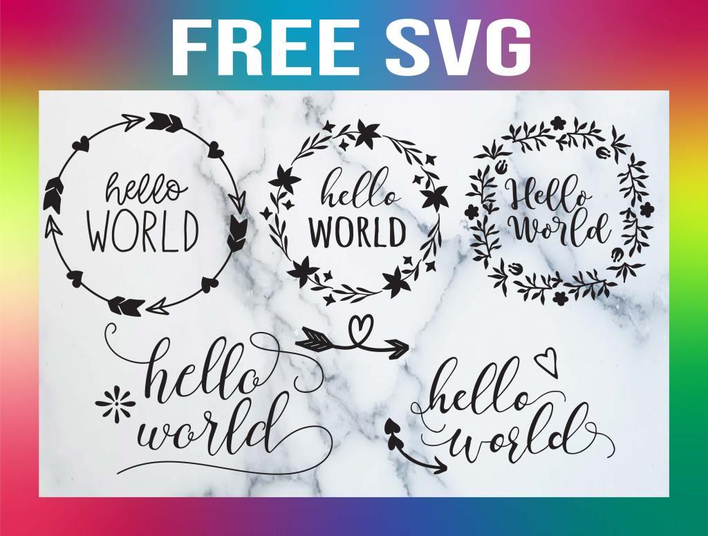 Hello World SVG