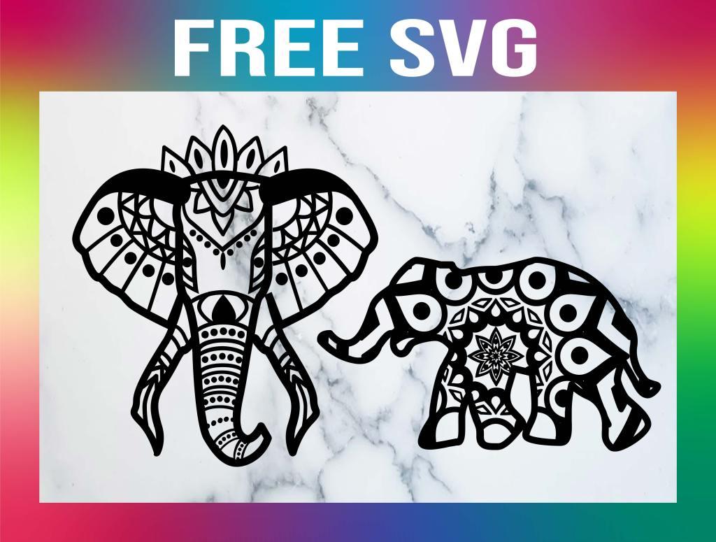Free Elephant Mandala SVG