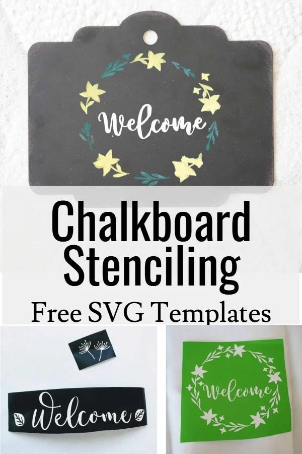 DIY chalkboard stencil