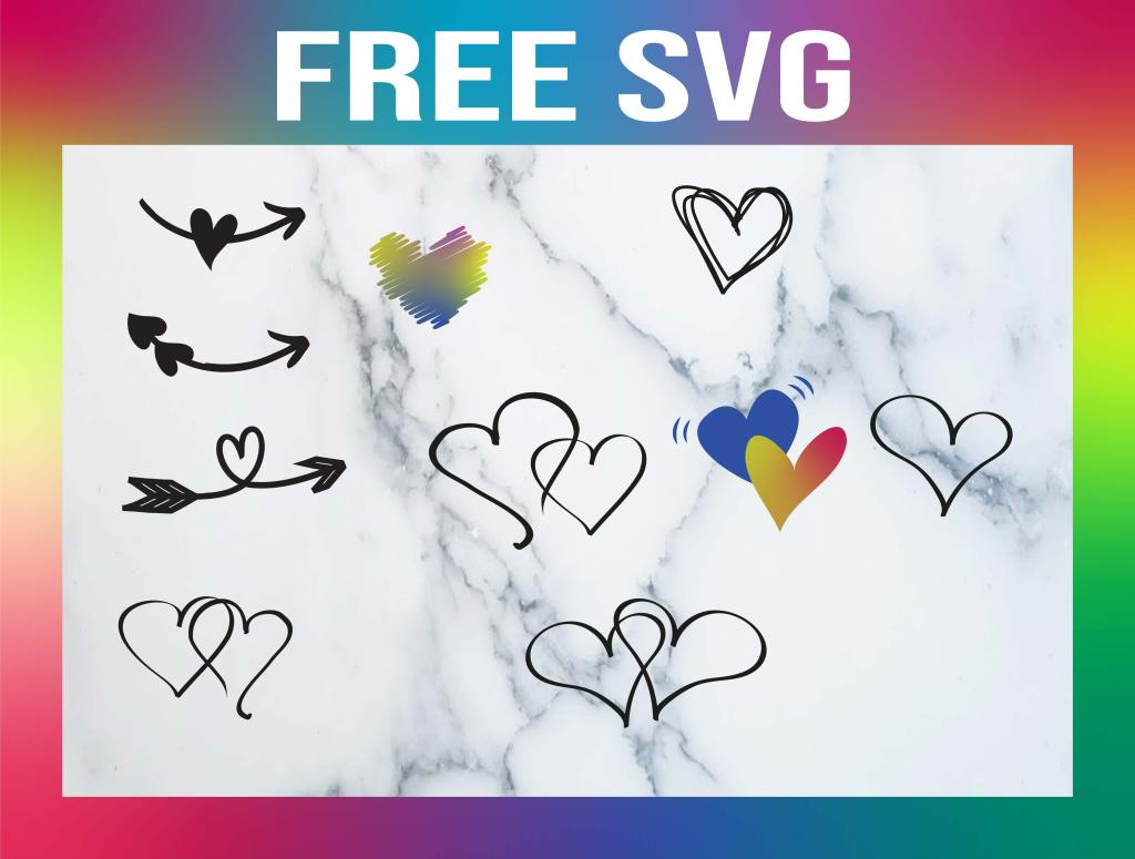 Free Double Heart SVG