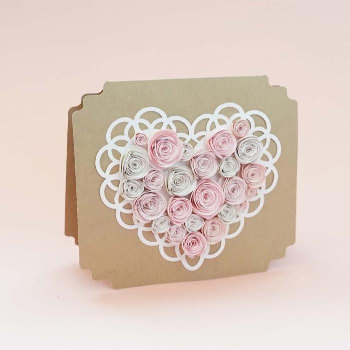 heart rosette card