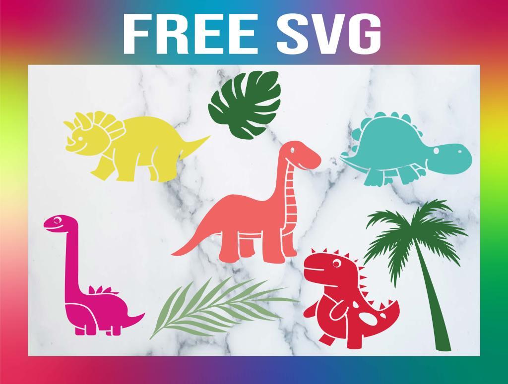 Free Cute Dinosaur SVG
