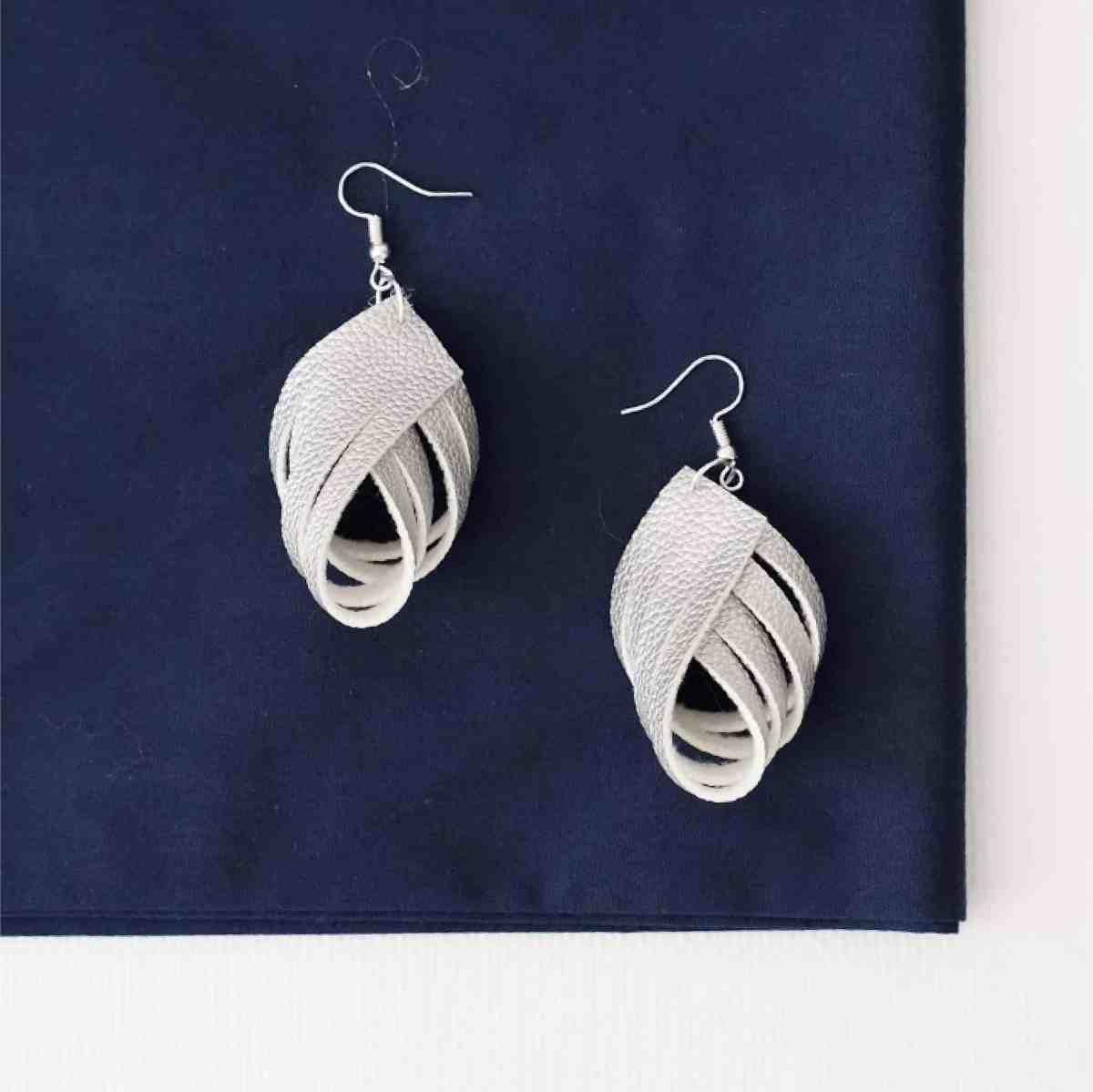 Fold under earrings