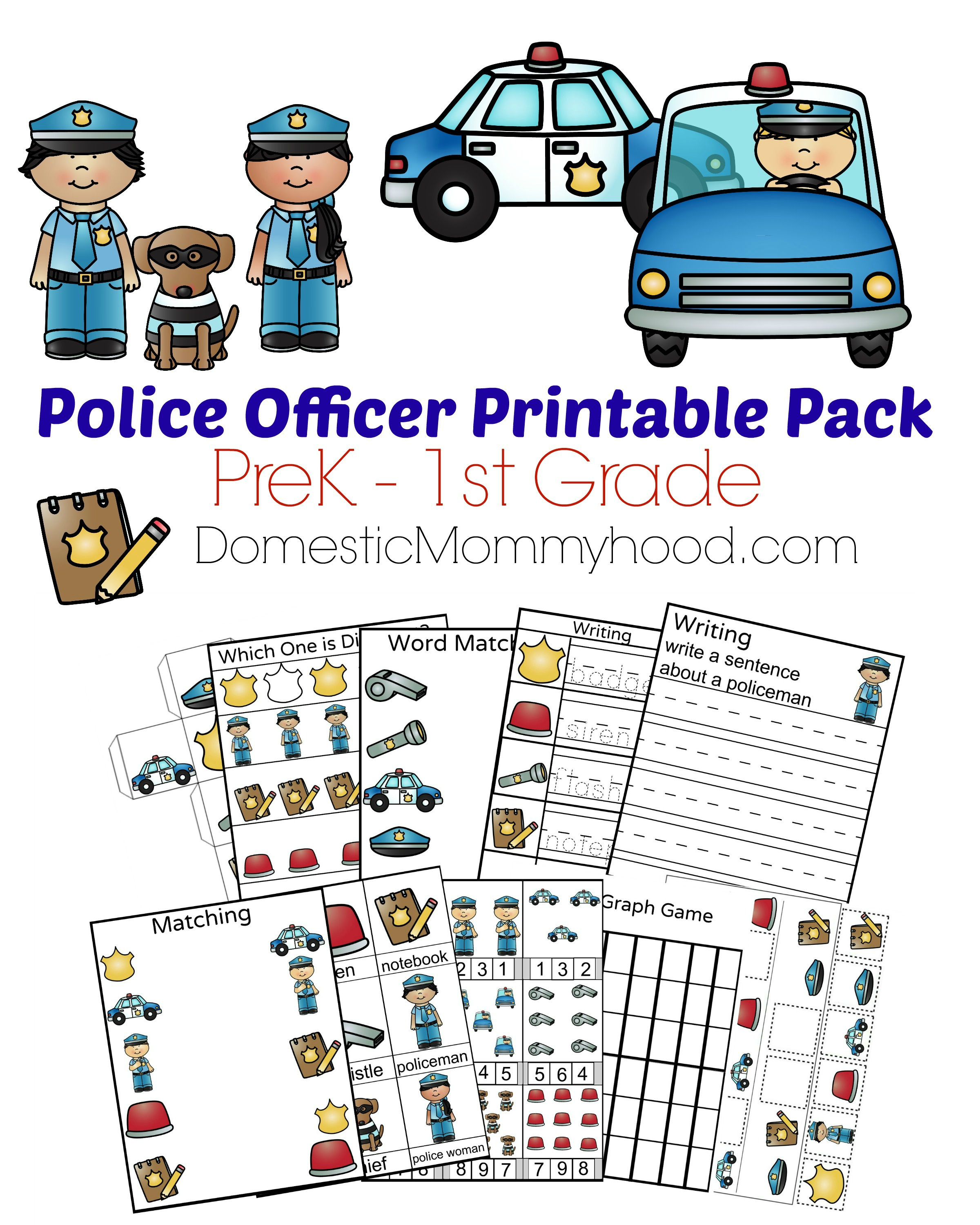 Community Helpers Week Theme Pre K Printable Police
