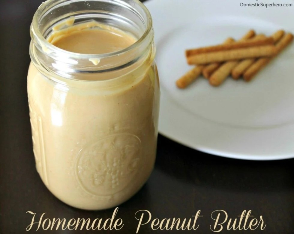Homemade Peanut Butter {Domestic Superhero}
