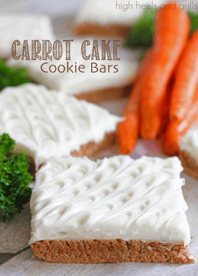 Carrot Cake Cookie Bars
