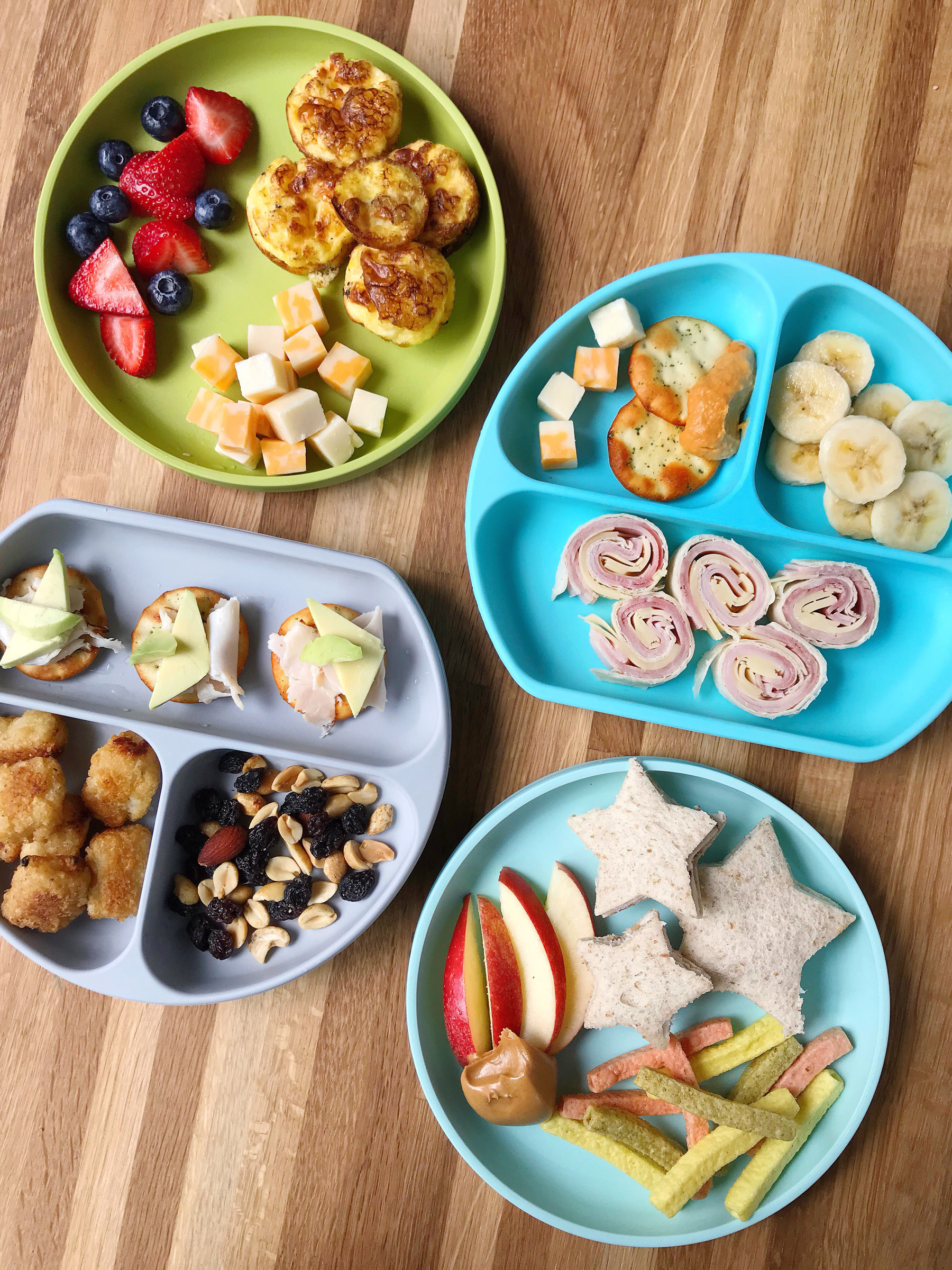 Kid Friendly Snack Plate Lunches