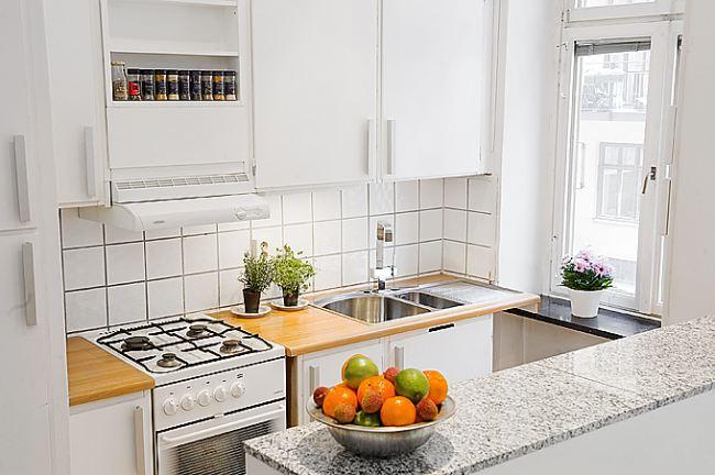 Mały apartament - kuchnia