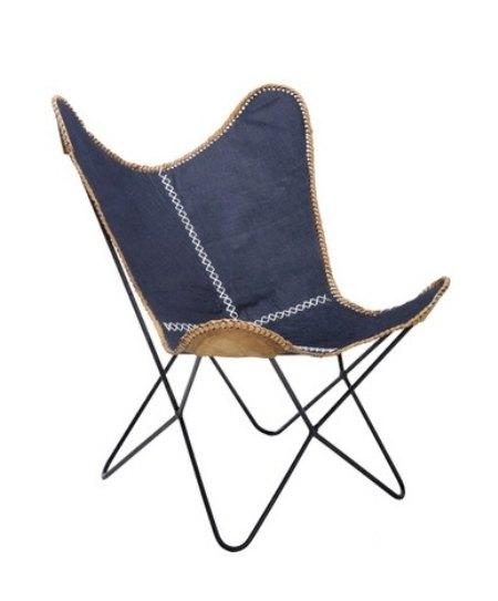 Fotel Butterfly Denim, Kare Design, 9design.pl