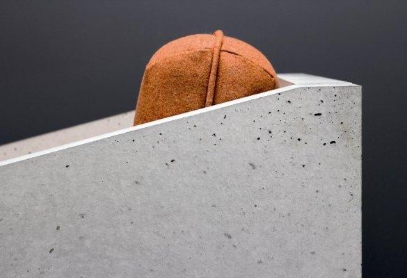 fotel z betonu