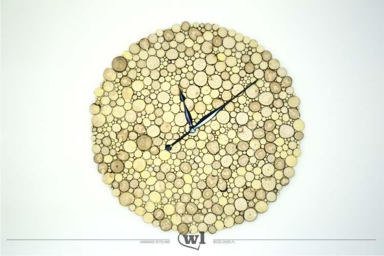 zegar z drewna 1