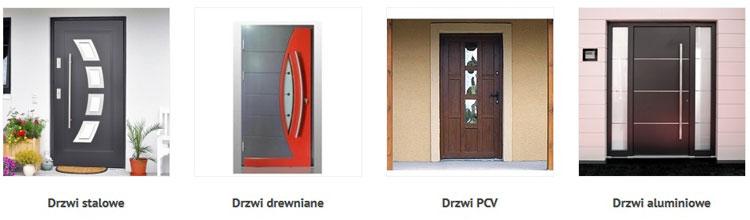 drzwi stalowe, drewniane, pvc, aluminiowe