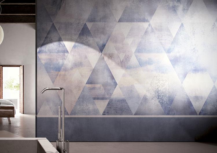 Nowoczesna fototapeta w minimalistycznej łazience