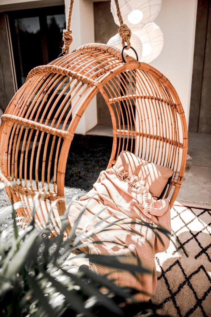 Designerski fotel wiszący Kai