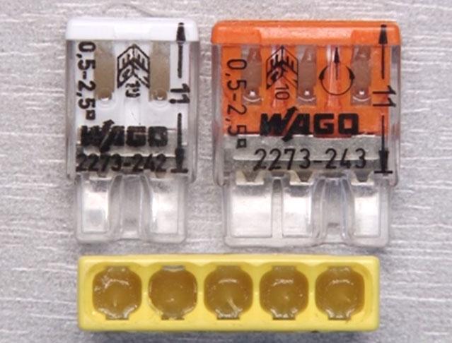 Ce que les pinces de Wago peuvent être connectées de câbles en cuivre et en aluminium