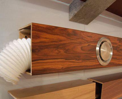 Dekoratív doboz a csatorna konyhai motorháztetéséhez