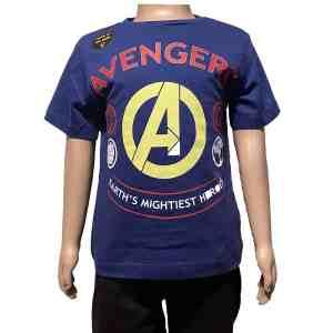 T-shirt manches courtes bleu avengers