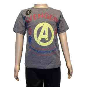 T-shirt manches courtes gris avengers