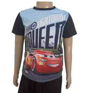 T-shirt manches courtes noir Cars