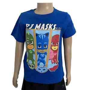 T-shirt manches courtes bleu PJMasks