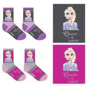 Lot de 2 paires de chaussettes La reine des neiges
