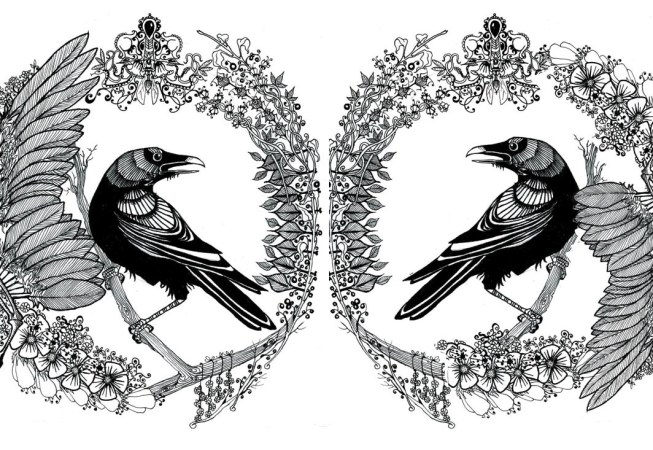 The Raven - ink on paper | for morrigannyc.com