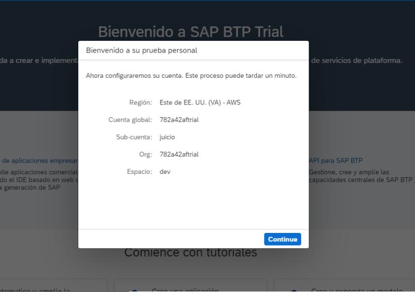 SAP - BTP - CONFIG - TRIAL