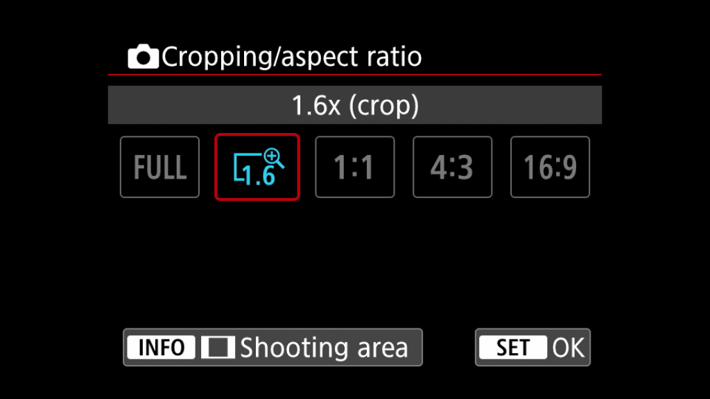 EOS R5 Cropping and Aspect Ratio