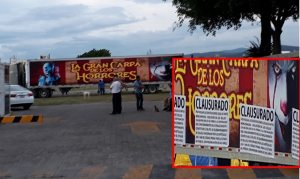 CLAUSURAN CARPA DE LOS HORRORES EN TEHUACAN
