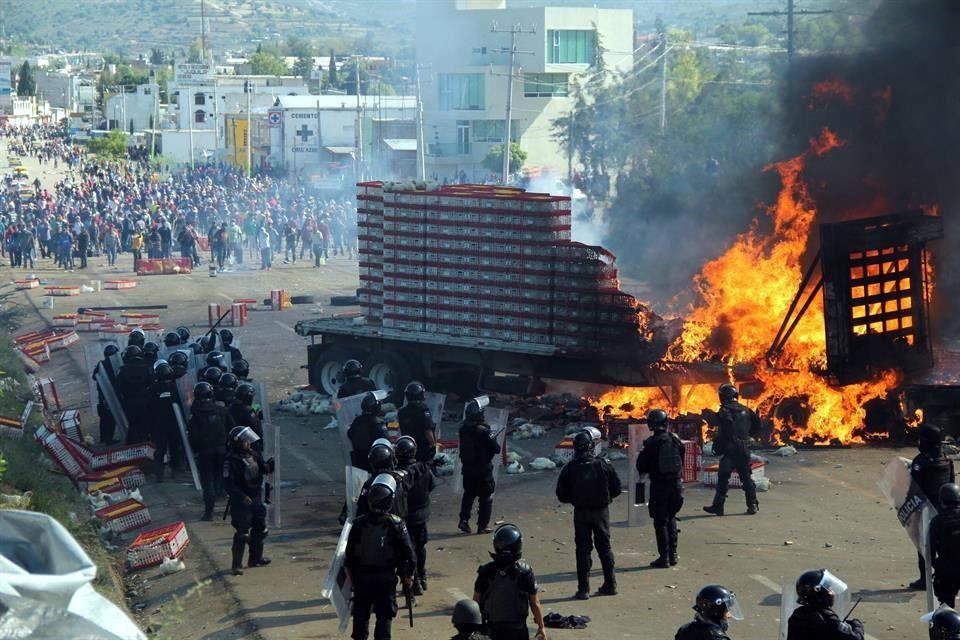LA POLICÍA ESTATAL DIO PRIMEROS DISPAROS EN NOCHIXTLÁN