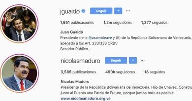 INSTAGRAM LE RETIRA  LA VERIFICACIÓN A MADURO Y SE LA DA A GUAIDÓ