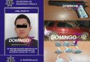 DETIENEN A SUJETO POR PORTACIÓN DE ARMA DE FUEGO  Y DROGA