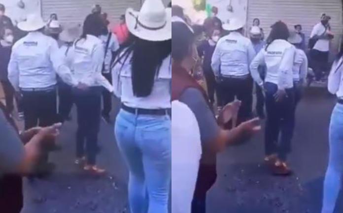 CAPTAN A CANDIDATO DE MORENA TOCANDO A MUJER INAPROPIADAMENTE