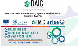 DAIC sustainability symposium rescheduled to tomorrow