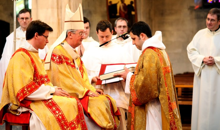 The handing over of the Gospel book to Bro Matthew OP