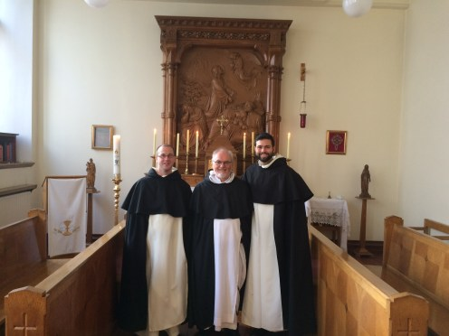 Fr. George Carroll OP, Prior Provincial, with bros. Matthew and Jesse OP