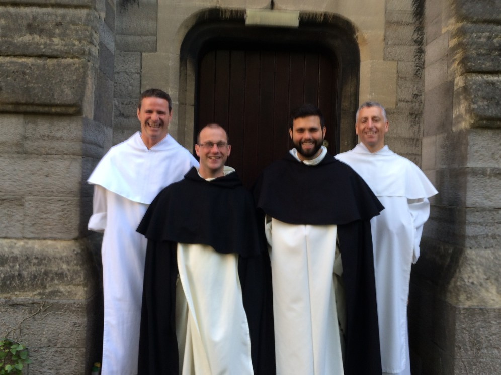 Fr. Terence and bros. Philip, Matthew and Jesse O.P.