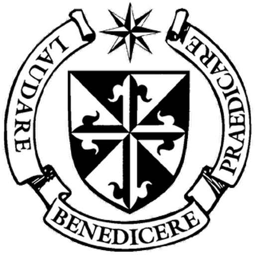 Favicon of the seal of the Dominican Order, which displays their Latin motto.