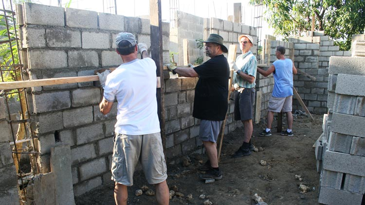Build group building walls