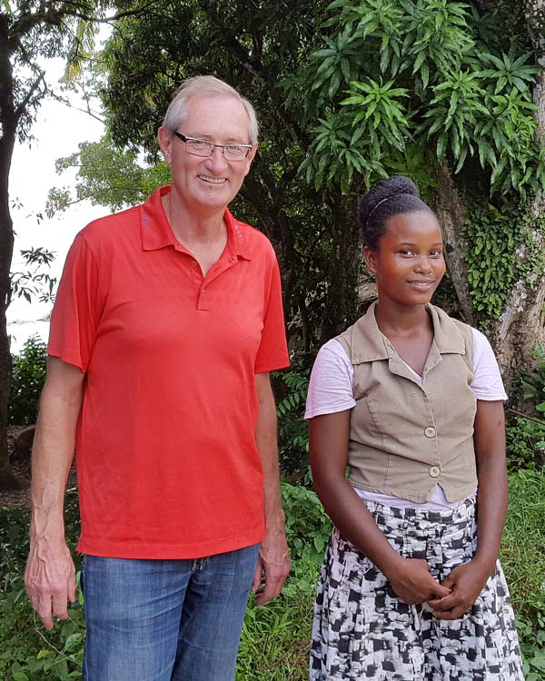 Peter Neufeld with one of DVI's University Students