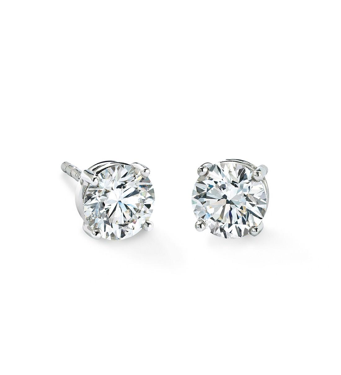 Women S 14 Karat Diamond Stud 1 Ctw