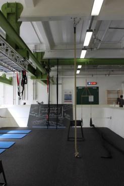 Das Seil an dem du bis zur Decke klettern kannst.