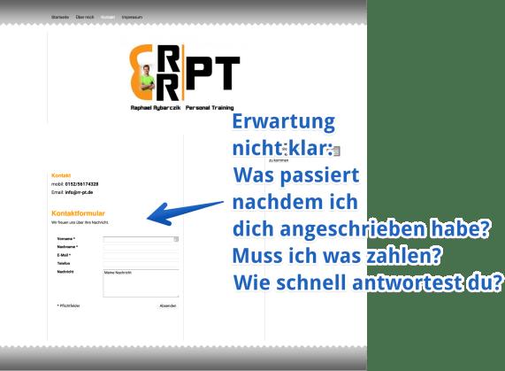 RR PT Webseite Kontakt annotiert