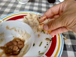 eating by hand