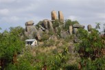 Residential home next to boulders