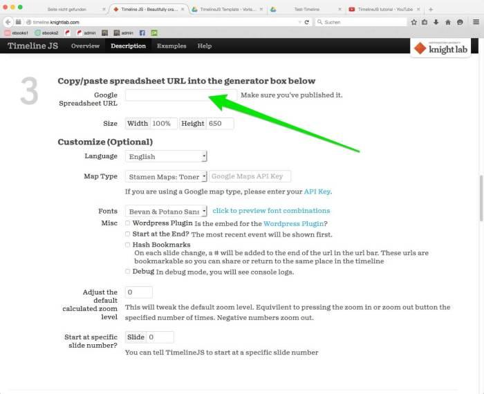 Abbildung 7: Den kopierten Link aus Abbildung 6 einfügen!